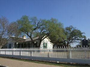 The Sam Johnson family home in Johnson City, Texas, where LBJ grew to manhood