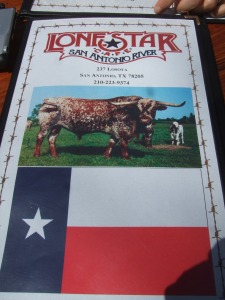 Lone Star Cafe Menu