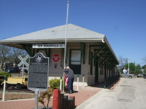 Former MKT RR Station in New Braunfels, now a railroad museum