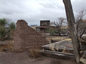 Steins Railroad Ghost Town beside I-10 in western New Mexico