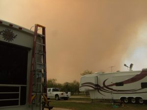 Texas wildfire not far from the RV resort