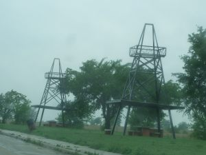 Rest Area Oil Derrick Shelters