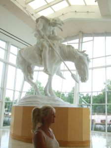 End of the Trail statue at the Cowboy National Museum