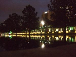 Oklahoma City National Memorial at night