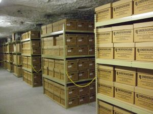 Underground document storage