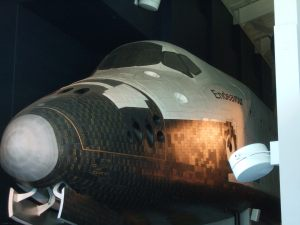 Life sized replica of a space shuttle