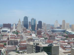 Downtown St. Louis from the tower