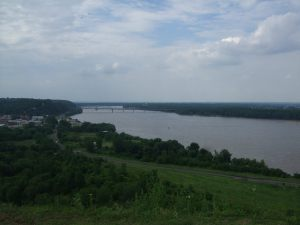 View of Hannibal and the Mississippi River from Lovers' Leap