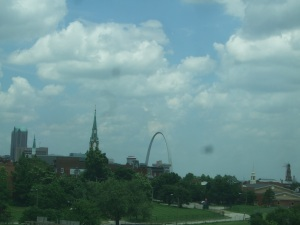 Gateway Arch on the St. Louis skyline