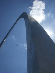 Gateway Arch seen from below