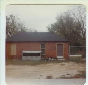 Mom's caption in 1981--Powerhouse behind my home which my Dad ran