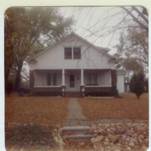 Mom's caption in 1981--Home where I was born--remodeled