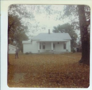Mom's caption in 1981--My parents' first home in Billings--remodeled