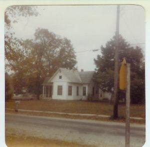 Mom's caption in 1981--Toby Martin's home across the st from original house