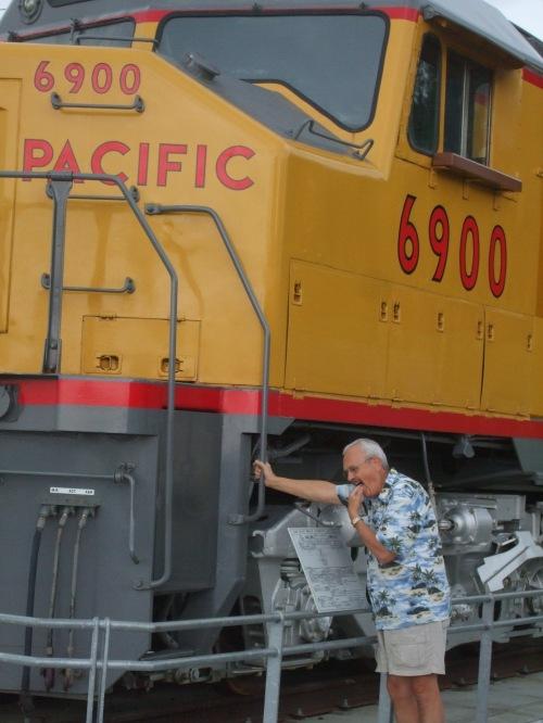 Ed prefers steam locomotives!
