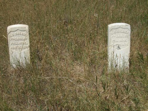 Markers of US soldiers killed in battle