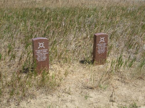 Markers of Indians lost in battle