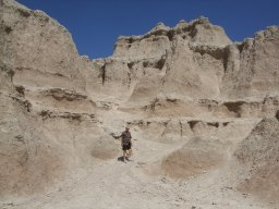 Ed hikes the Badlands