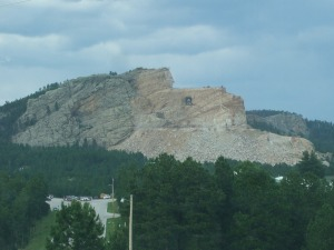 The Crazy Horse Memorial from a distance