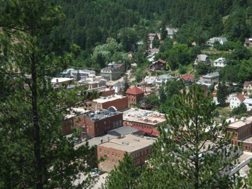 Downtown Deadwood from Mt. Moriah Cemetery