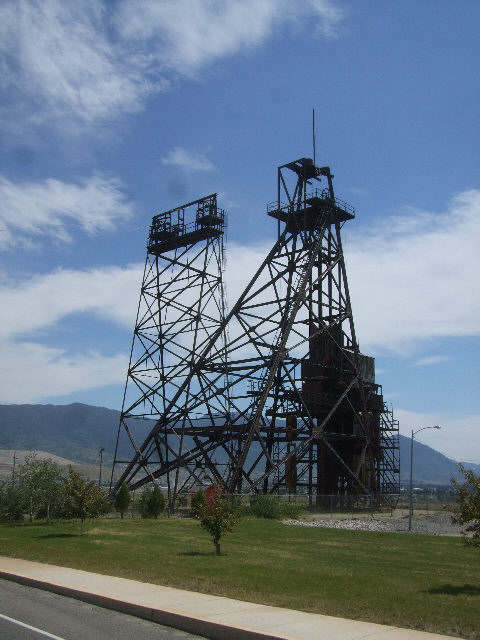 Typical mine headframe in Butte