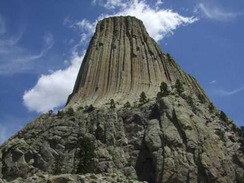 Devil's Tower from the trail around the monolith